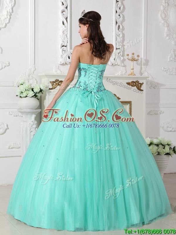 Popular  Beading Sweetheart Quinceanera Dresses  in Green
