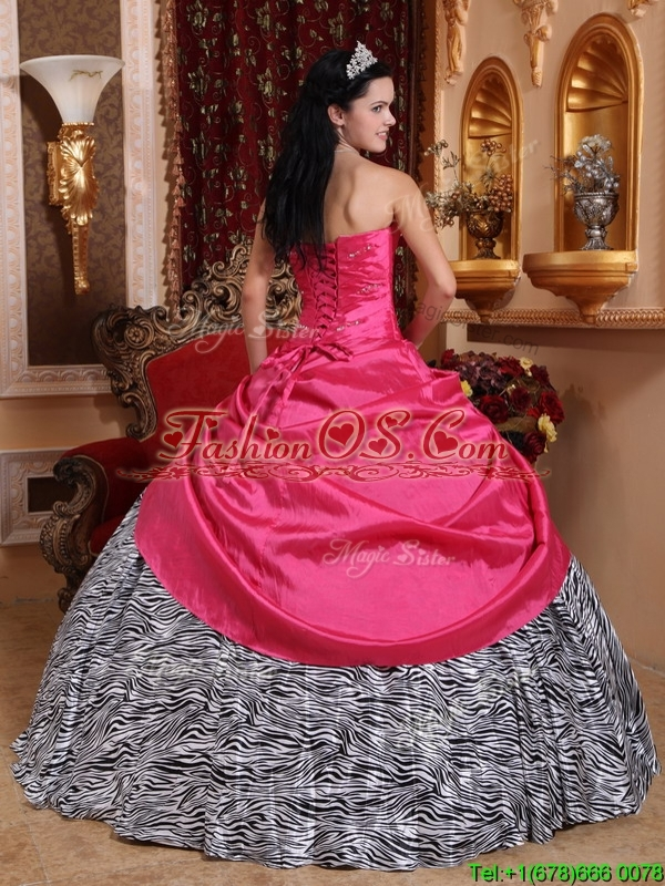 Simple Hot Pink Ball Gown  Sweetheart Sweet 16 Dresses