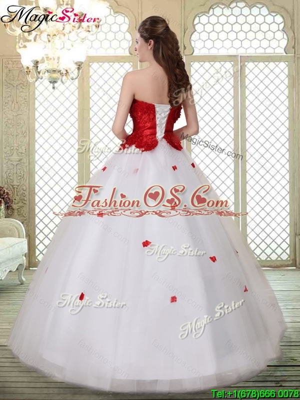 Popular A Line Strapless Quinceanera Dresses with Ruffles