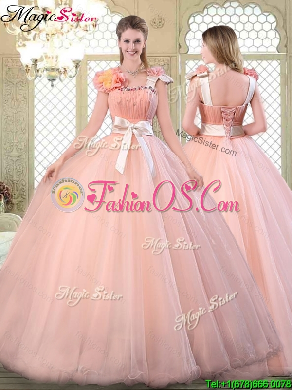 Beautiful Asymmetrical Quinceanera Dresses with Bowknot