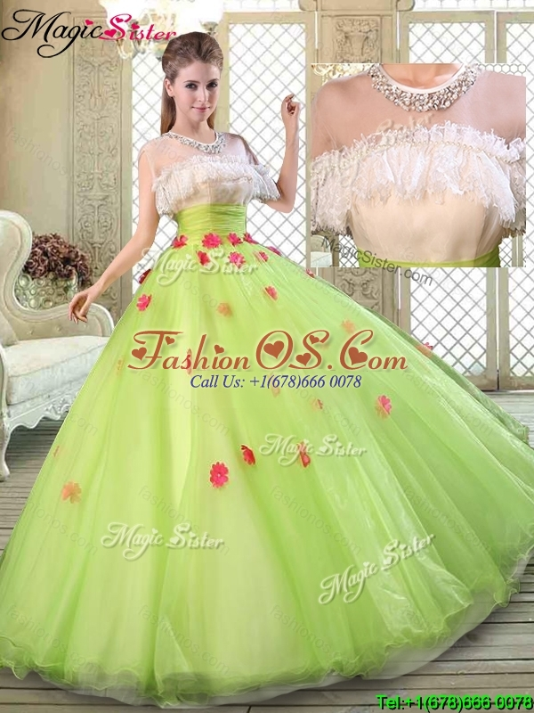 Spring Beautiful Scoop Quinceanera Dresses with Ruffles