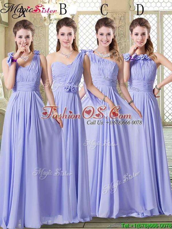 Beautiful One Shoulder Floor Length Bridesmaid Dresses for Spring