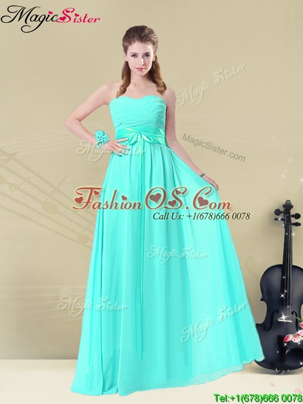 Inexpensive Sweetheart Prom Dresses with Belt