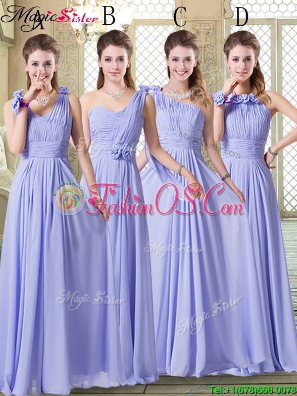 Sweet Empire Halter Top Bridesmaid Dresses in Lavender