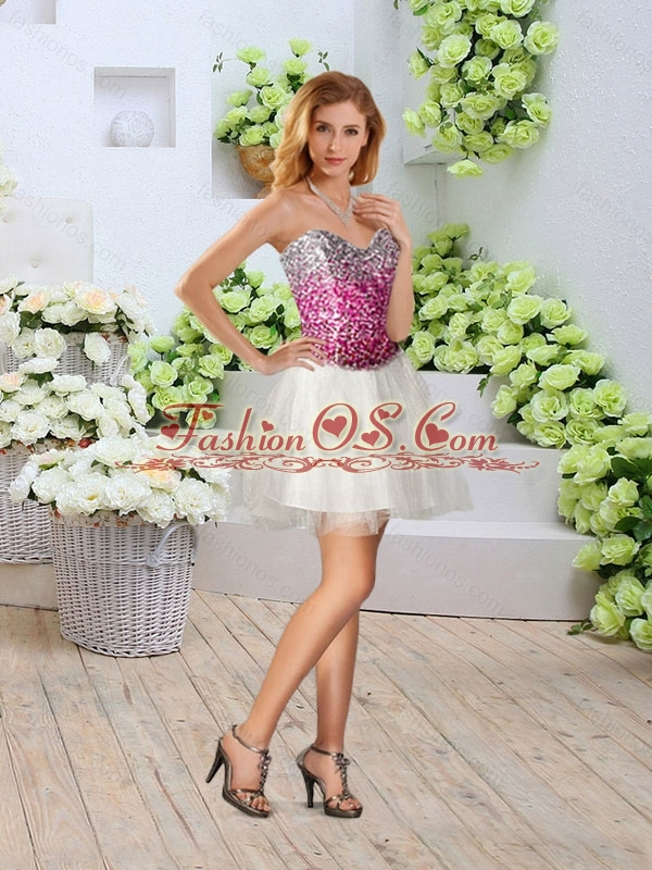 2016 Romantic Sweetheart High Slit Detachable Quinceanera Dresses