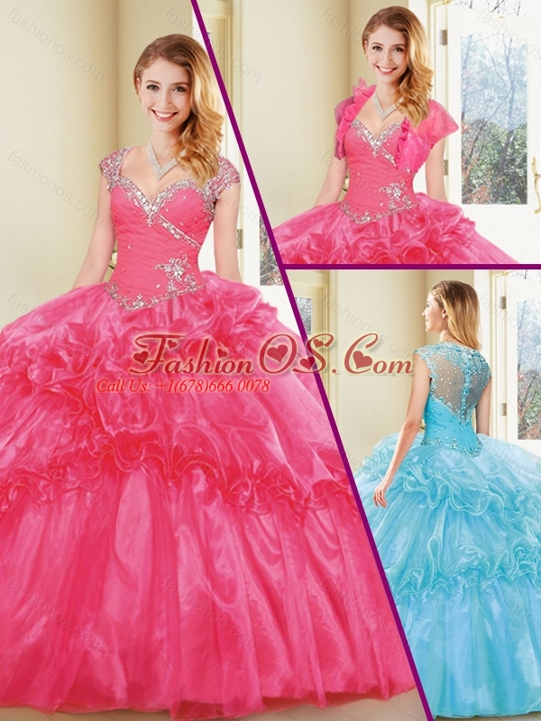 New Arrivals Straps Quinceanera Dresses with Beading and Ruffles
