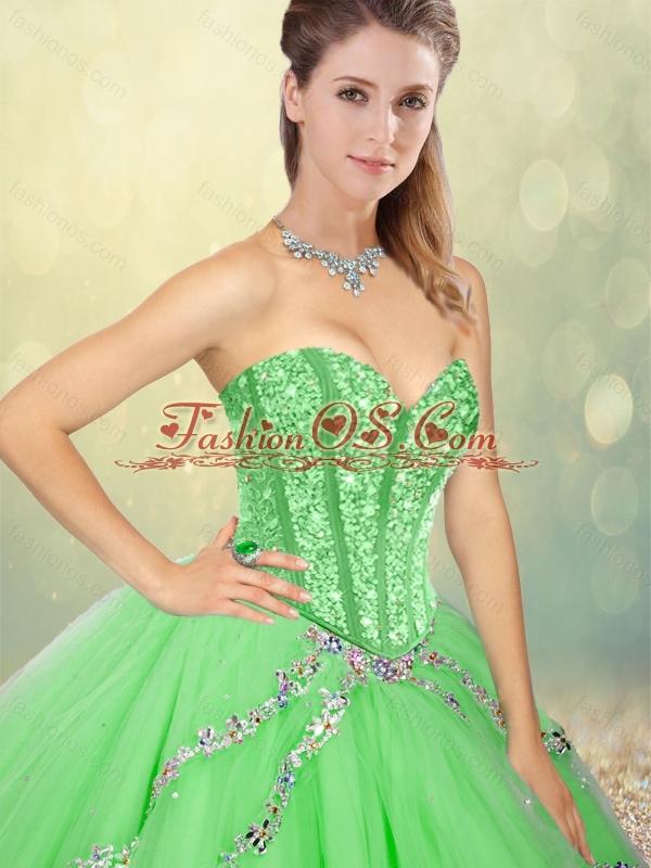 Fashionable Floor Length Beading Sweet 16 Dresses for Spring