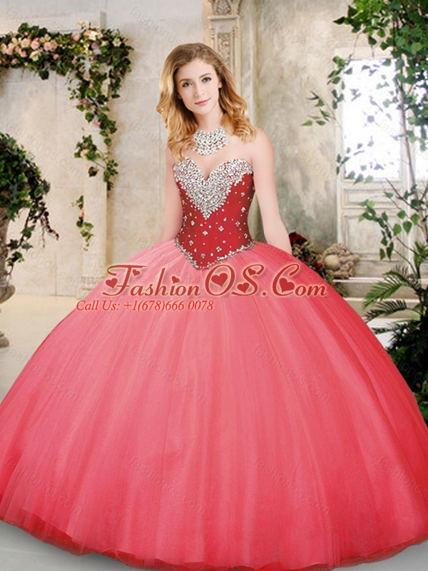Modest Sweetheart Quinceanera Dresses with Beading