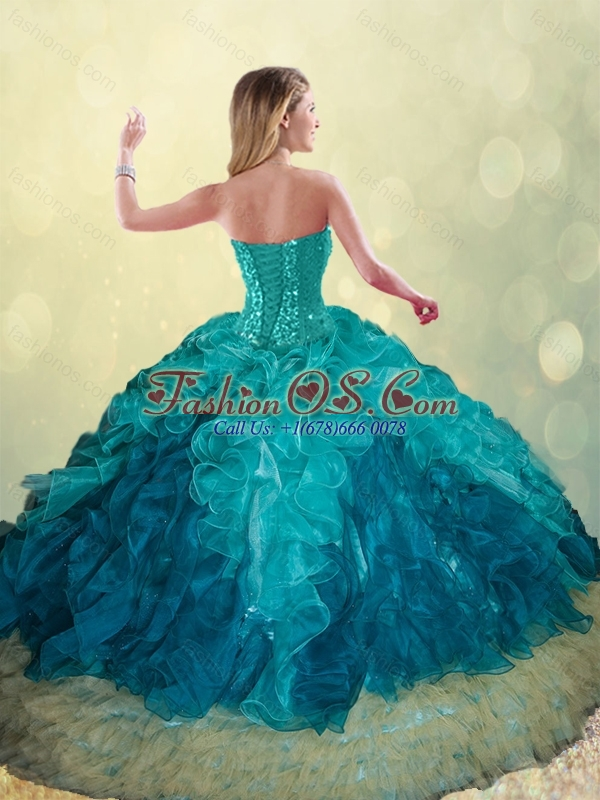 Elegant Beading and Ruffles Ball Gown Detachable Quinceanera Skirts