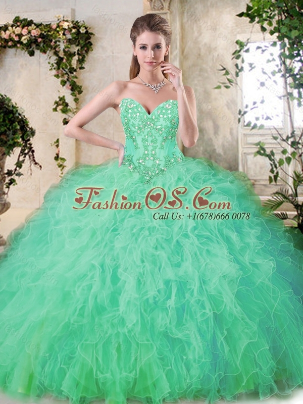 Pretty Appliques and Ruffles Quinceanera Dresses with Sweetheart