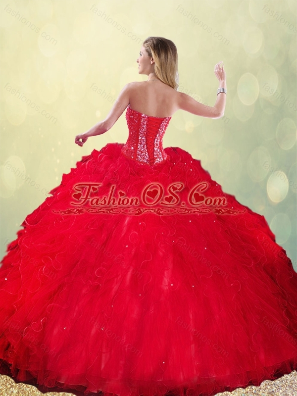 Pretty  Sweetheart Beading Quinceanera Dresses with Ruffles