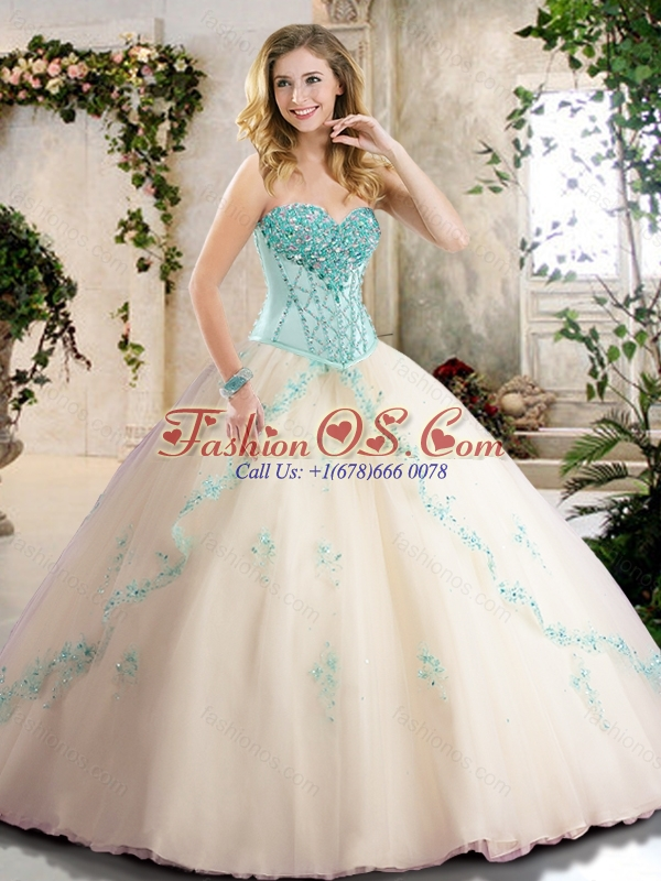 Pretty Sweetheart Quinceanera Dresses with Appliques