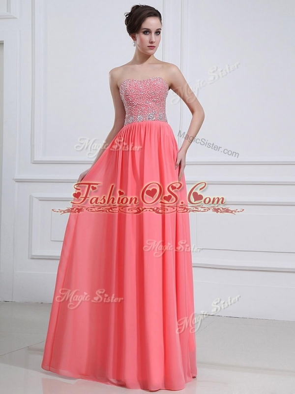 Beautiful Sweetheart Watermelon 2016 Bridesmaid Dresses with Beading