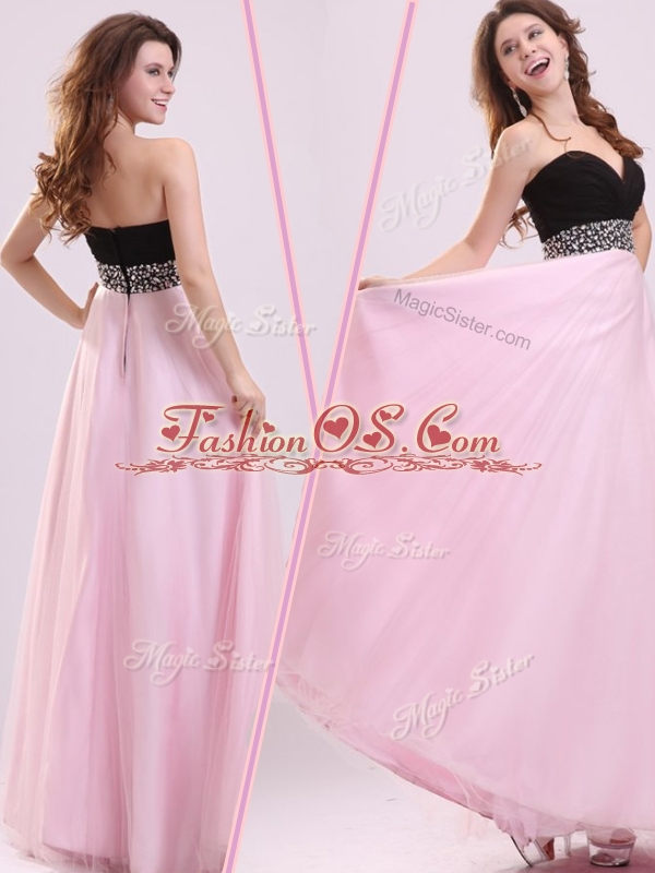 Cheap Empire Sweetheart Beading 2016 Bridesmaid Dresses in Baby Pink