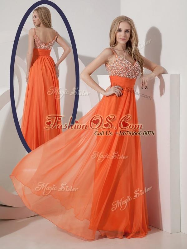 Classical Empire Spaghetti Straps Beading 2016 Bridesmaid Dresses