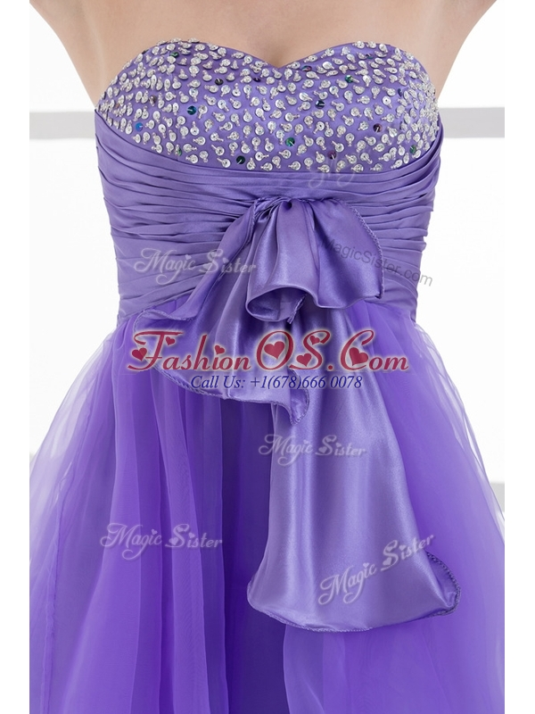 Beautiful Sweetheart Eggplant Purple Short Cocktail Dresses with Beading