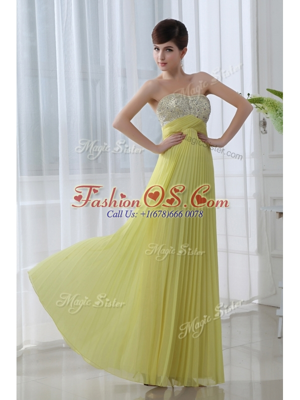 Low Price Sweetheart Floor Length Beading Popular Prom Dress for Graduation