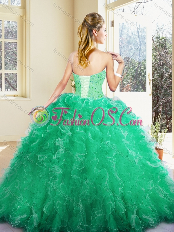 2016 Cute Sweetheart Ball Gown Quinceanera Dresses with Ruffles