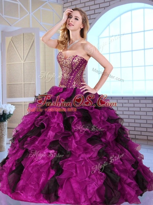 Cute  Ball Gown Sweet 16 Quinceanera Dresses with Appliques and Ruffles 2016