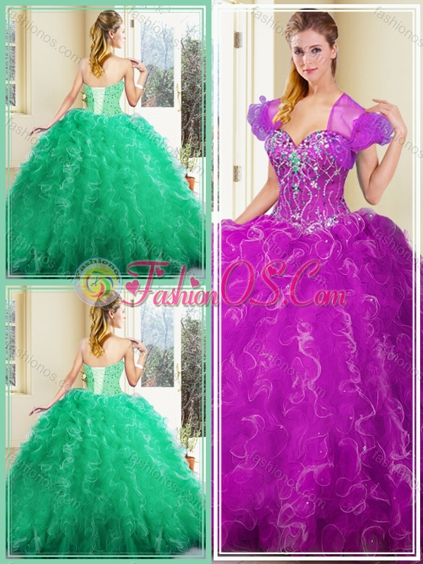 Clearance  Ball Gown Quinceanera Dresses with Ruffles for Fall