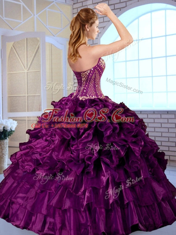 Clearance Ball Gown Sweetheart Quinceanera Dresses with Ruffles and Appliques