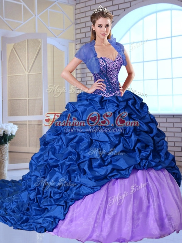 Clearance  Sweetheart Brush Train Pick Ups and Appliques Quinceanera Dresses  2016