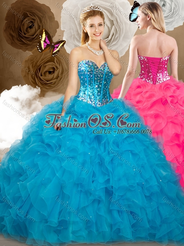 2016 ClearanceBall Gown Sweetheart Beading and Ruffles Sweet 16 Quinceanera  Dresses
