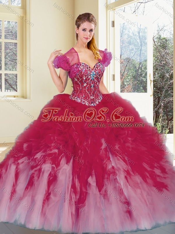 2016 Discount Multi Color Quinceanera Dresses with Beading and Ruffles