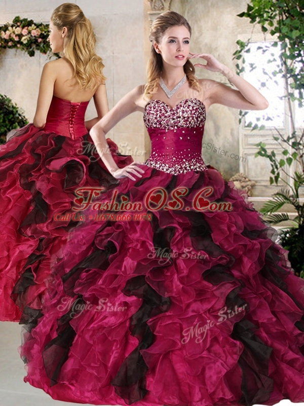 Discount  Sweetheart Multi Color Sweet 16 Quinceanera Dresses with Beading and Ruffles