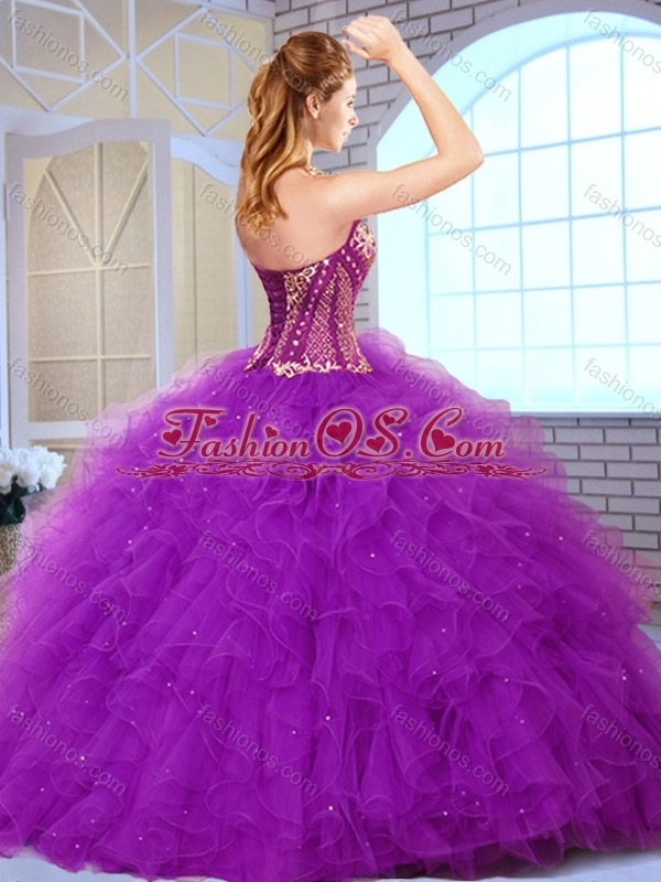 Discount Sweetheart Ruffles and Appliques Sweet 16 Quinceanera Dresses