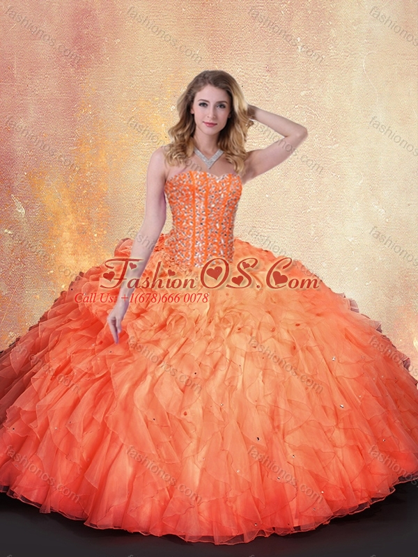 Discount Ball Gown Beading and Ruffles Sweet 16 Quinceanera Dresses 2016