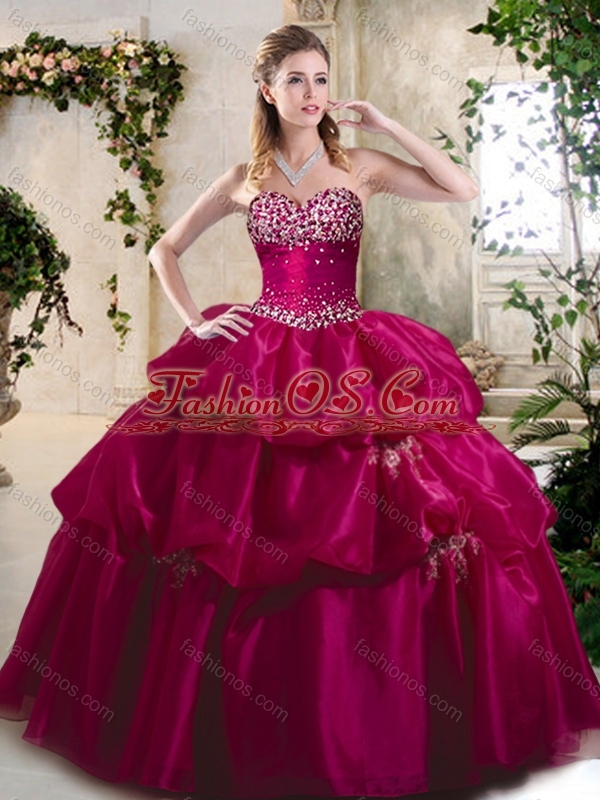 Discount Ball Gown Sweet 16 Quinceanera Dresses with Beading and Pick Ups