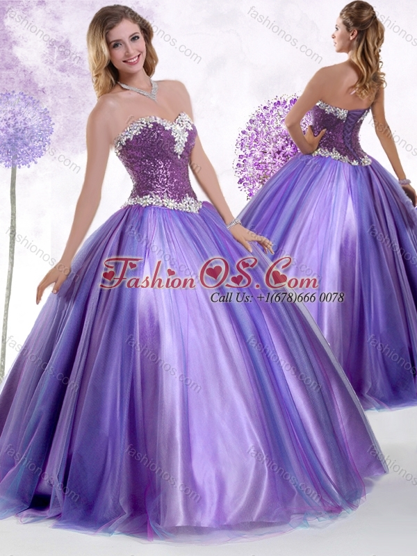 Discount Ball Gown Sweet 16 Quinceanera Dresses with Beading and Sequins