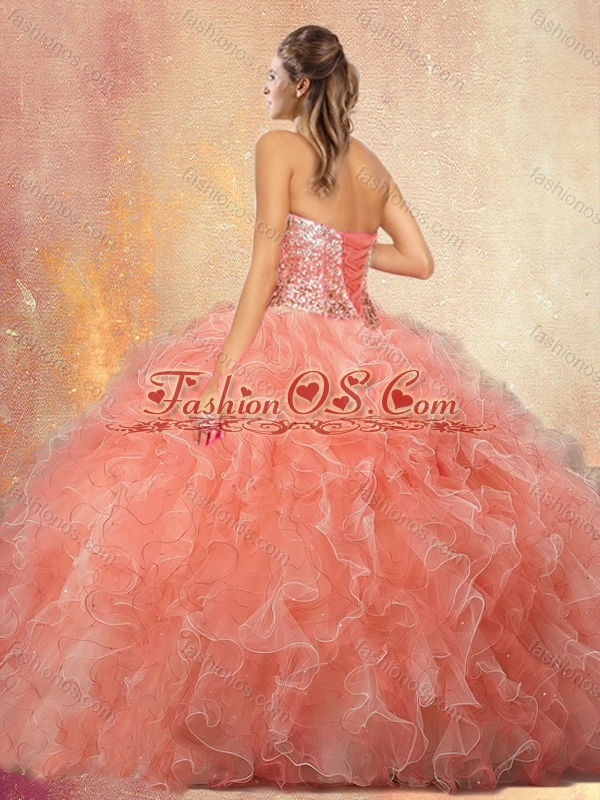 Discount  Sweetheart Beading Quinceanera Dresses with Ruffles