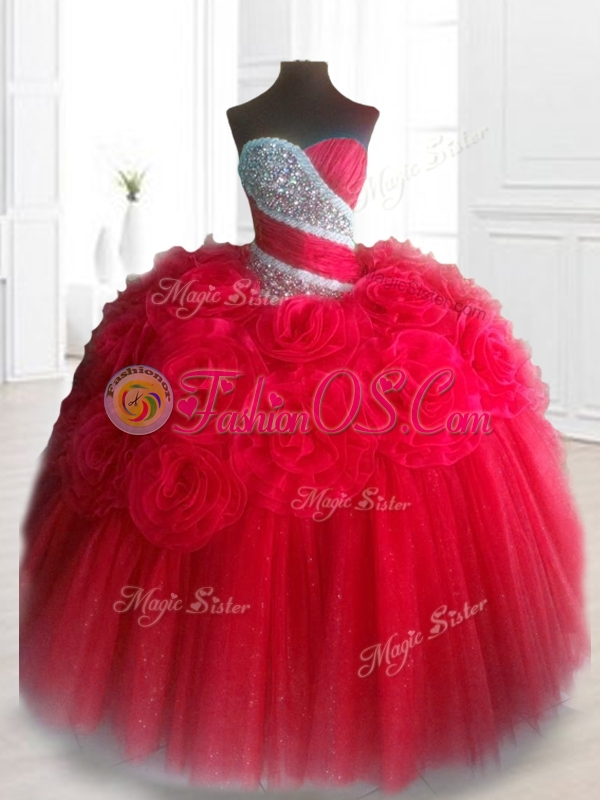 Elegant Sweetheart Quinceanera Dresses with Beading and Hand Made Flowers