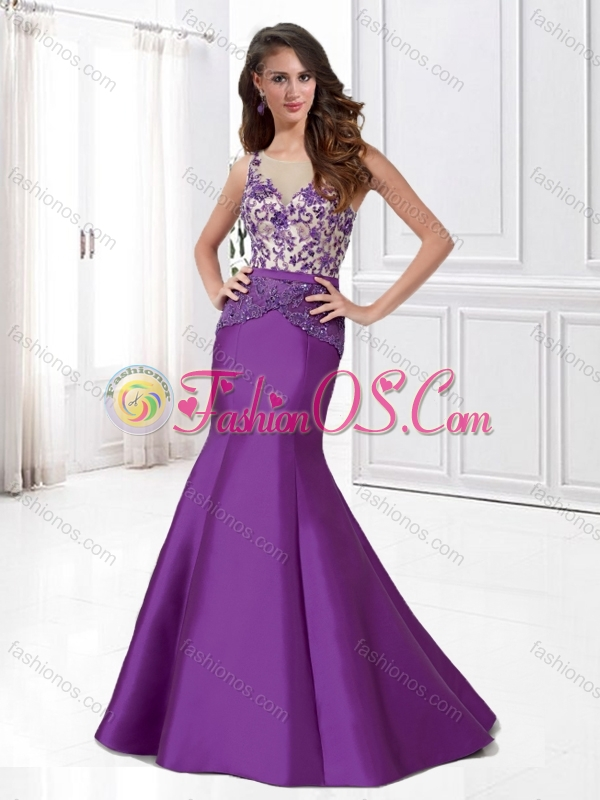 Latest Mermaid Scoop Mother of The Groom Dress with Beading and Appliques