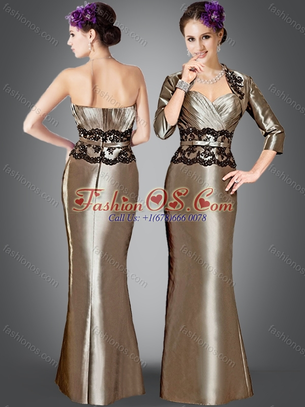 Elegant Column Mother of The Bride Dress with Appliques and jacket