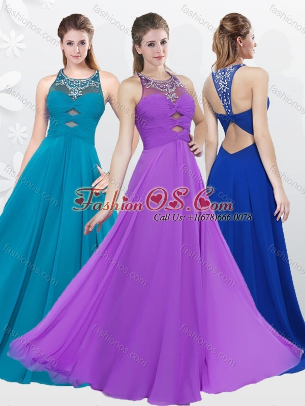 2016 Fall Cheap Empire Criss Cross Beading Beautiful Prom Dress