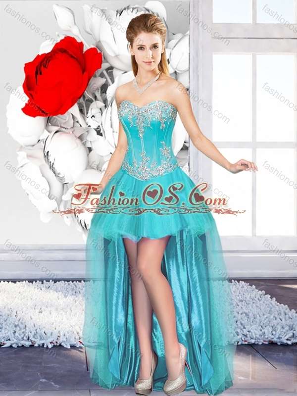 2016 A Line Sweetheart Beautiful Dama Dresses for Quinceanera with High Low