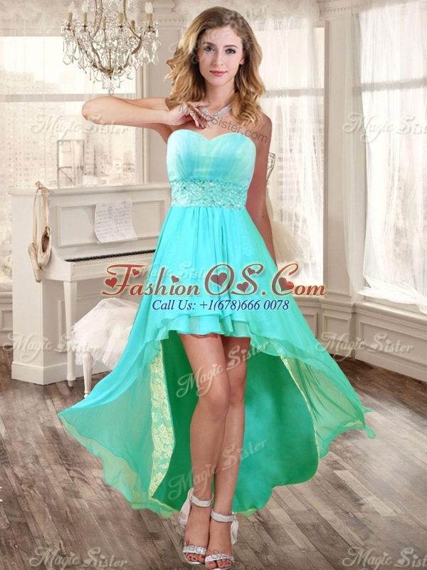Perfect Applique and Ruffled Quinceanera Dress and High Low Beaded Dama Dresses