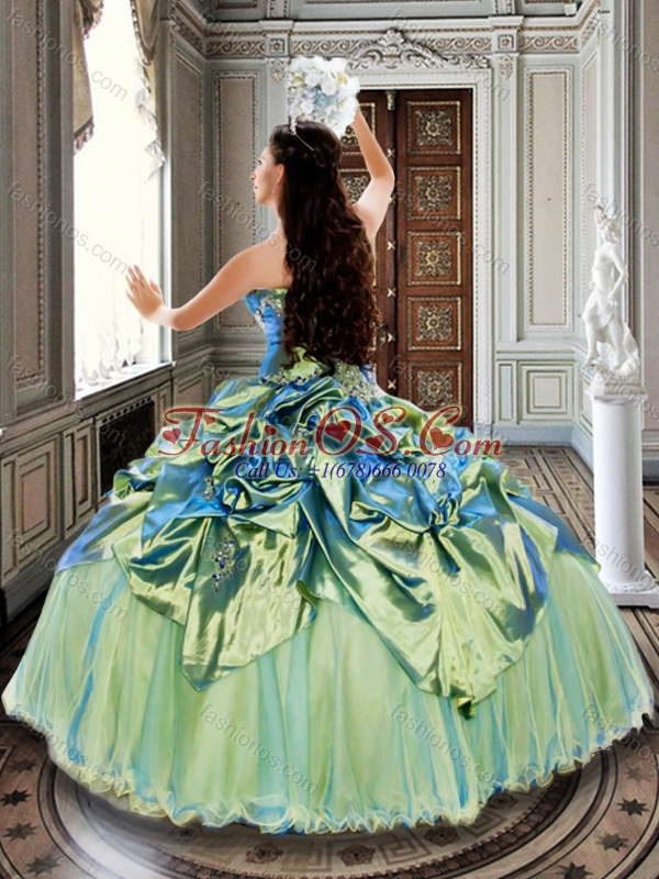 Customized Olive Green Quinceanera Dresses with Bubbles and Beading
