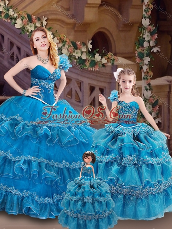 Beautiful One Shoulder Princesita Quinceanera Dresses with Appliques and Ruffles