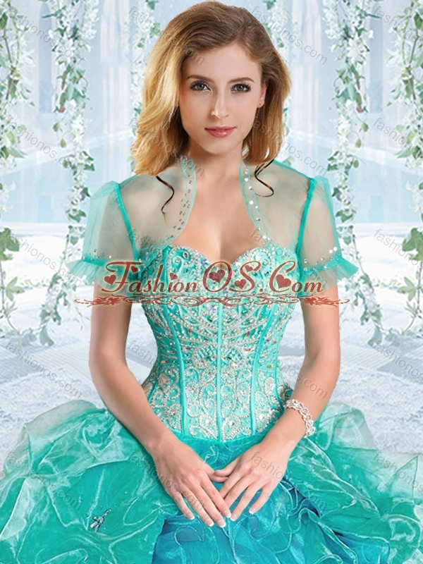 Discount Beaded Bodice Visible Boning Rose Pink Detachable Quinceanera Dresses