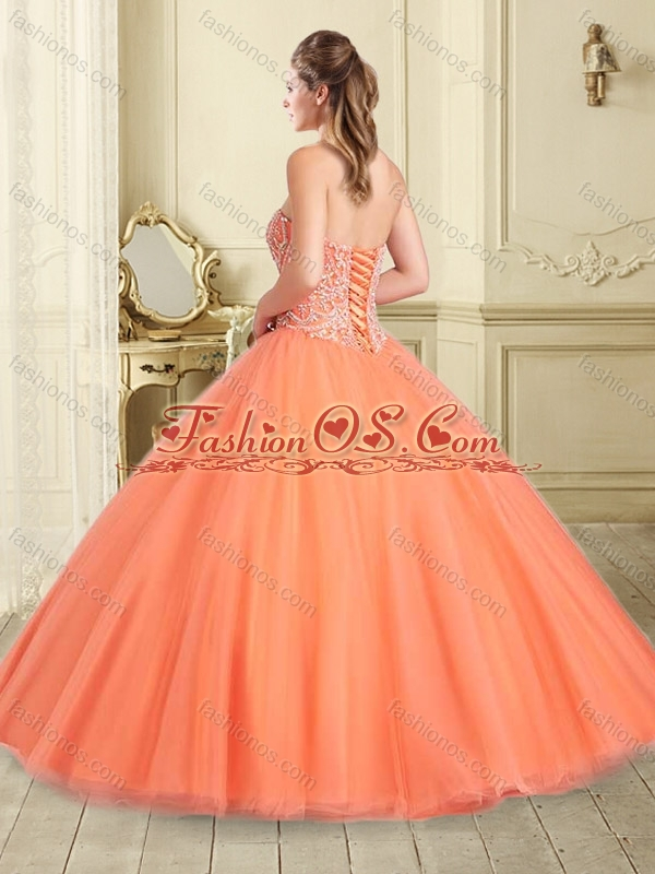 Pretty Really Puffy Apple Green Quinceanera Dress with Beaded Bodice