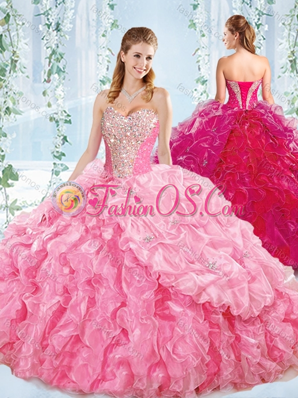 Best Selling Sweetheart Quinceanera Dress with Beaded Bodice and Ruffles