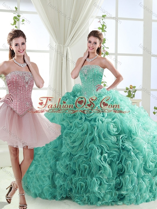 Popular Beaded Big Puffy Detachable Quinceanera Skirt in Rolling Flower