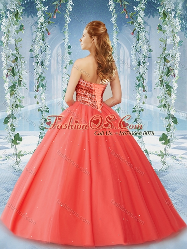 Popular Beaded and Ruffled Tulle Quinceanera Dress in Puffy Skirt