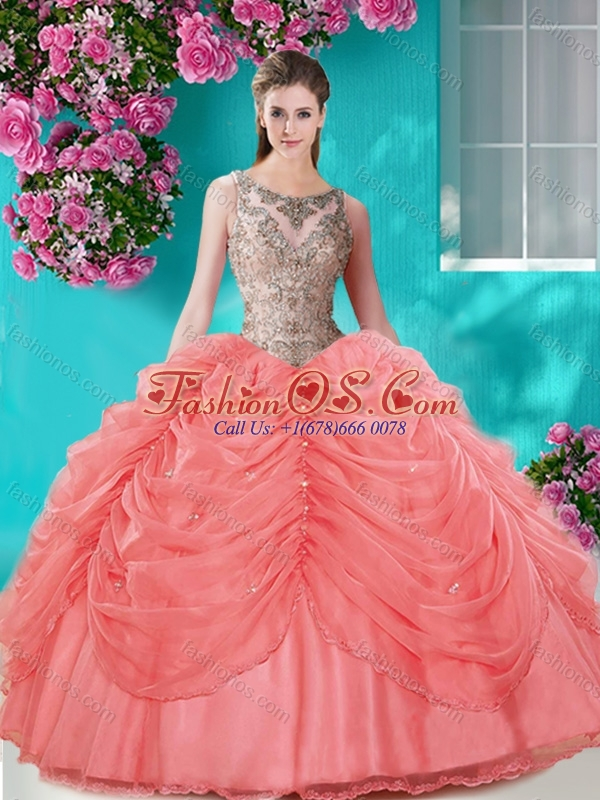 Perfect Big Puffy Champagne Quinceanera Dress with Beading and Bubbles