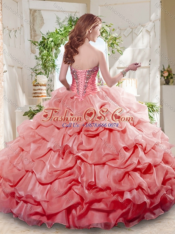 Unique White Ball Gowns Beaded and Bubbles Quinceanera Dress with Sweetheart