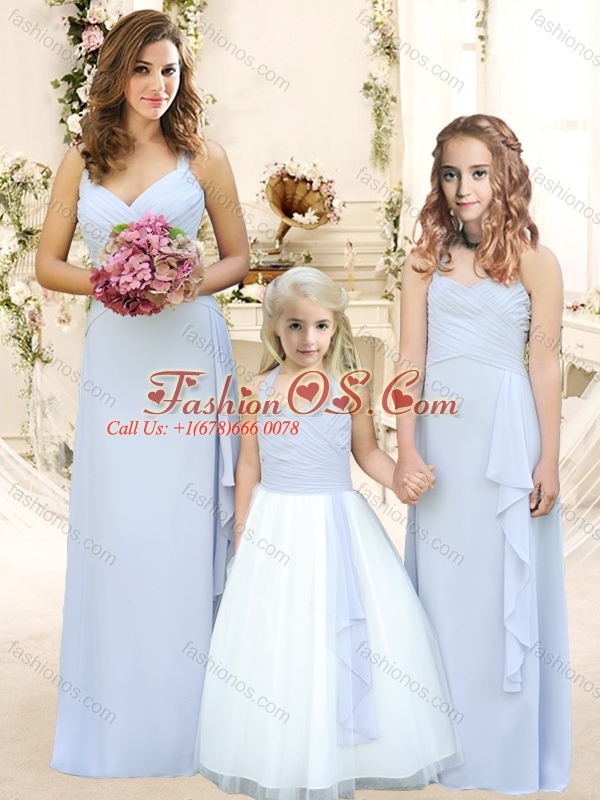 Modest Ruffled Empire Bridesmaid Dress with Halter Top